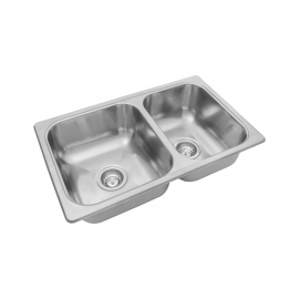 Bacha De Cocina Doble Johnson R63/18F