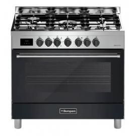 Cocina Mixta Bompani 90Cm Tech Negra B0687Da/N