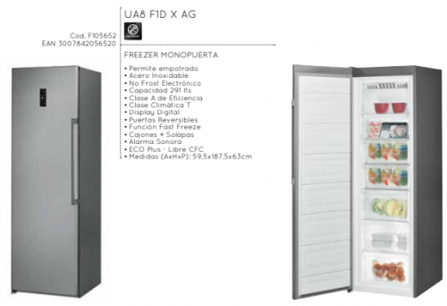 Freezer Vertical Ariston Ua8F1Dxag