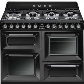 Cocina Mixta Smeg 110 Negro Tr411Bl1