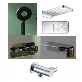 Griferia Bañera C/Transferencia + Cascada + Duchador + Pico