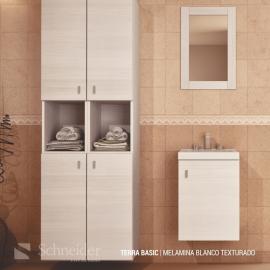 Espejo De Baño Schneider Terra Bco Texturado Em40Txb