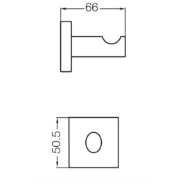 Accesorio Baño Fv Percha Melody 166/28 Cromo