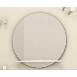 Espejo Campi Rondo 80 Blanco Con Estante Er90B