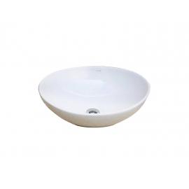 Bacha De Apoyar Oval Urbis Blanca Brillante 40X34X14.5