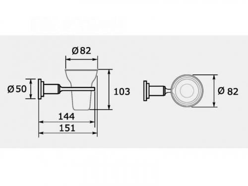Accesorio Baño Hidromet Porta Cepillo Cylinder Cromo