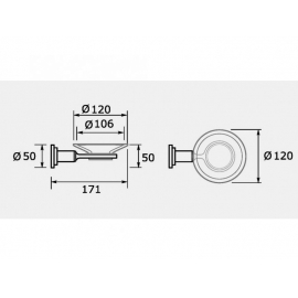 Accesorio Baño Hidromet Jabonera Cylinder Cromo