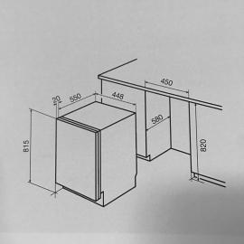 Lavavajillas Panelable 45Cm 9 Cub Bompani Italia Bolt946/E