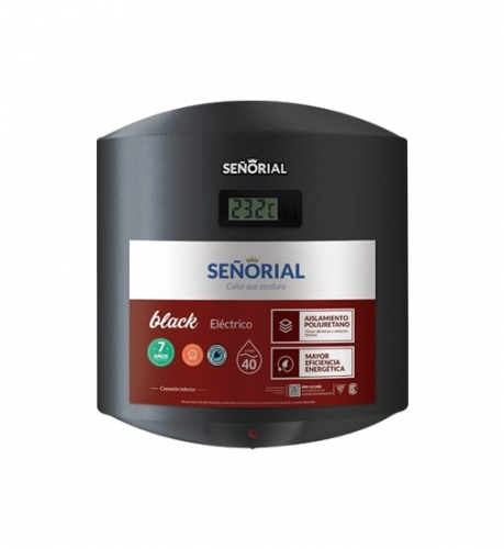 Termotanque Señorial Black 40Lts Electrico E Tsbe - 40