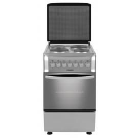Cocina Domec Euromatic Electrica 4 Placas Inox Cef5