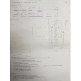 Griferia Ducha Reflex Con Duchador Sl090C C/Luz Led Negro