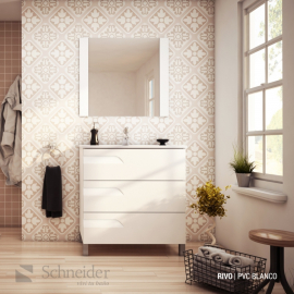 Espejo De Baño Schneider Rivo Rovere 80 Ev80
