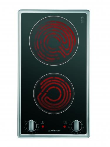 Anafe Electrico 2 Hornallas 30 Cm Ariston Vitro Dk 2K Ix